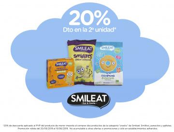 Promo SMILEAT -20% en 2ª unitat de snacks