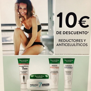 SOMATOLINE 10€ DE DESCOMPTE EN REDUCTORS I ANTICEL·LULÍTICS