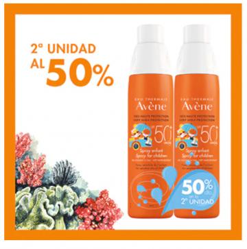Avene spray infantil SPF50+ 200mL