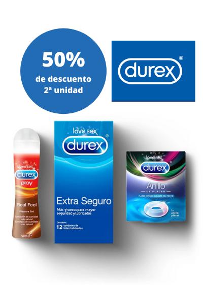 DUREX: 50% de descuento en la segunda unidad