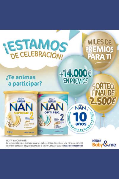 Miles de premios con NAN Leches Infantiles de Continuación