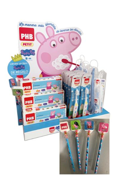PHB Petit: Regalo de un lápiz y una goma de borrar de Peppa Pig con la compra de dos productos de la linea