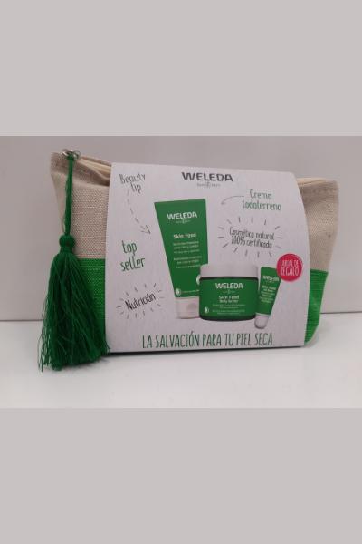 Weleda: Skin Food pack con neceser y lip de regalo