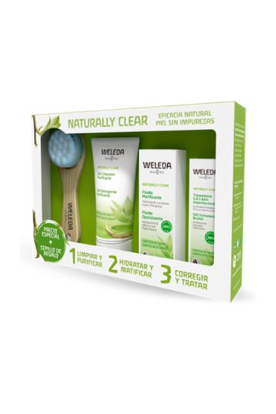 Weleda: Tratamiento completo para piel grasa a mixta y/o con imperfecciones + Cepillo de Limpieza DE REGALO