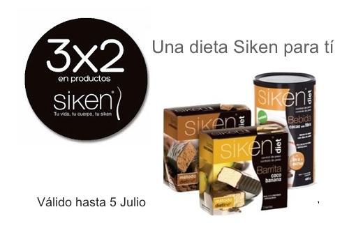 Aprovecha la promoción de 3×2 en Productos Siken Diet