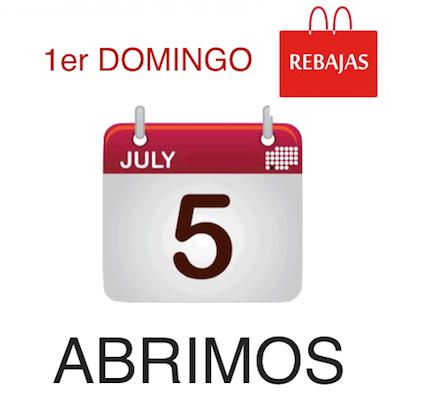 Este domingo 5 Julio «Estamos abiertos»