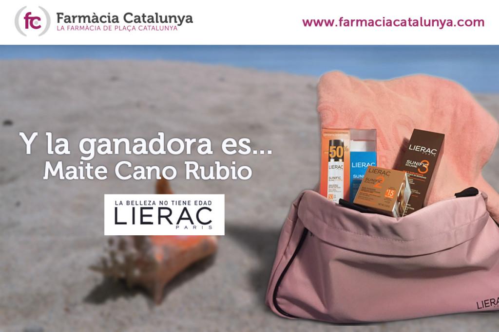 Ganadora del sorteo Lierac: Maite Cano Rubio