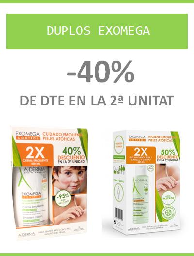 Promocions en Exomega pells atòpiques