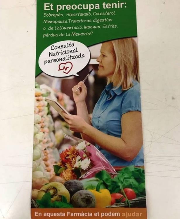 Servicio de nutricionista en Farmacia Isabel Domenech