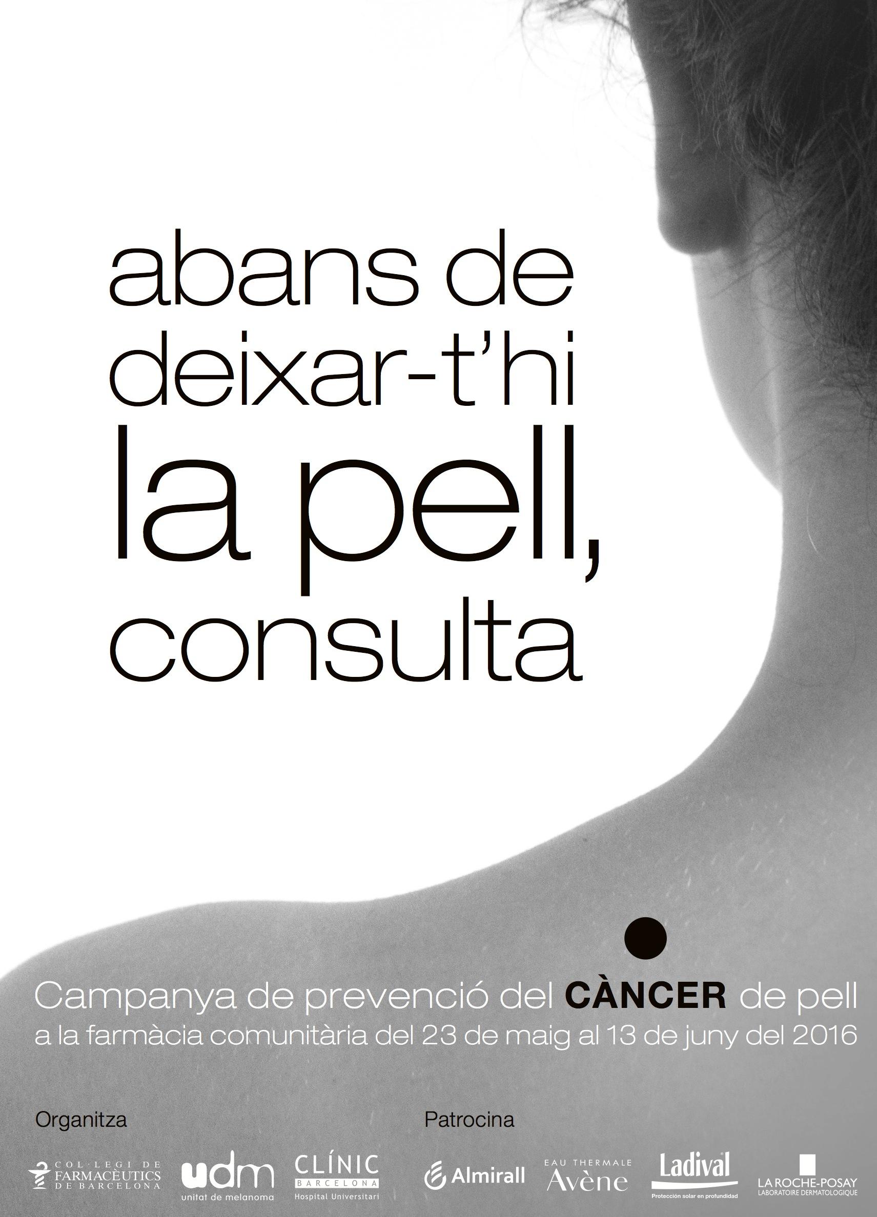 """Ven y conoce tu riesgo de cáncer de piel en la Campaña """"Abans de deixar-t'hi la pell, consulta"""""""