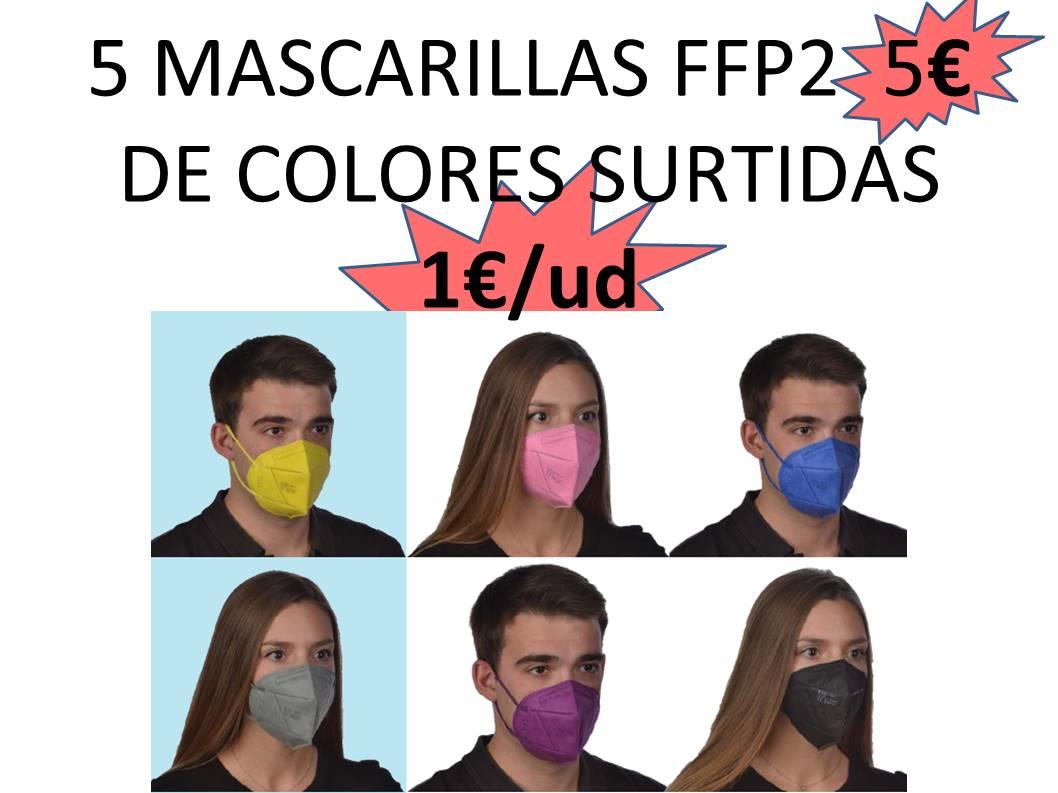 MASCARILLAS FFP2 DE COLORES