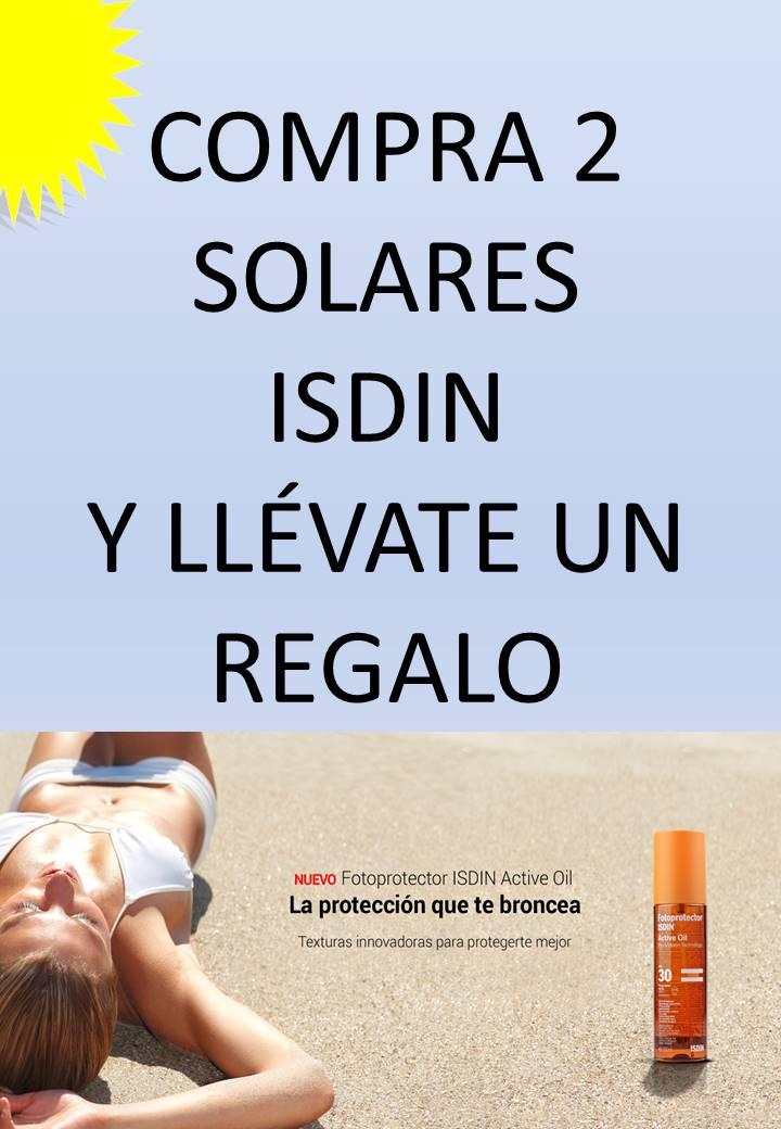 SOLARES ISDIN CON REGALO