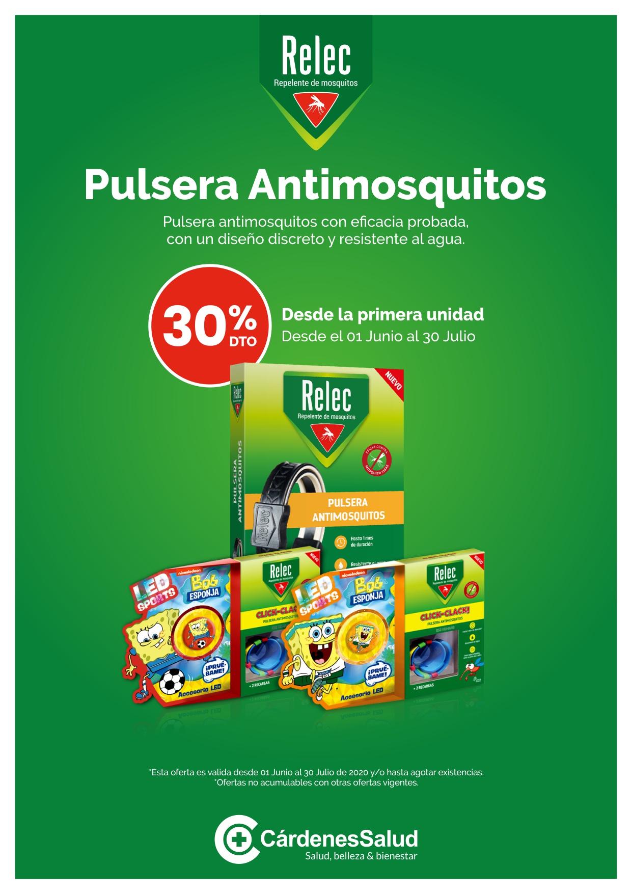 30% de Descuento en las Pulseras Antimosquitos de RELEC!