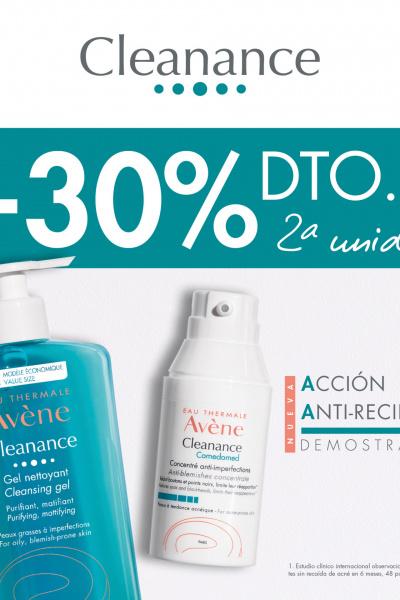 -30% Descuento 2da unidad AVENE CLEANANCE
