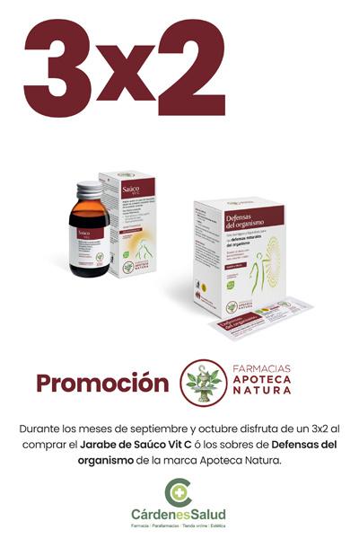 3x2 en productos Apoteca Natura