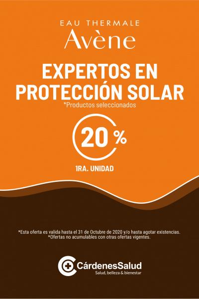 Avène Solares, -20% de descuento hasta final de Octubre