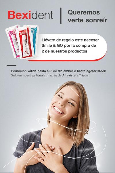 BEXIDENT: LLÉVATE DE REGALO UN NECESER SMILE&GO POR LA COMPRA DE 2 DE NUESTROS PRODUCTOS