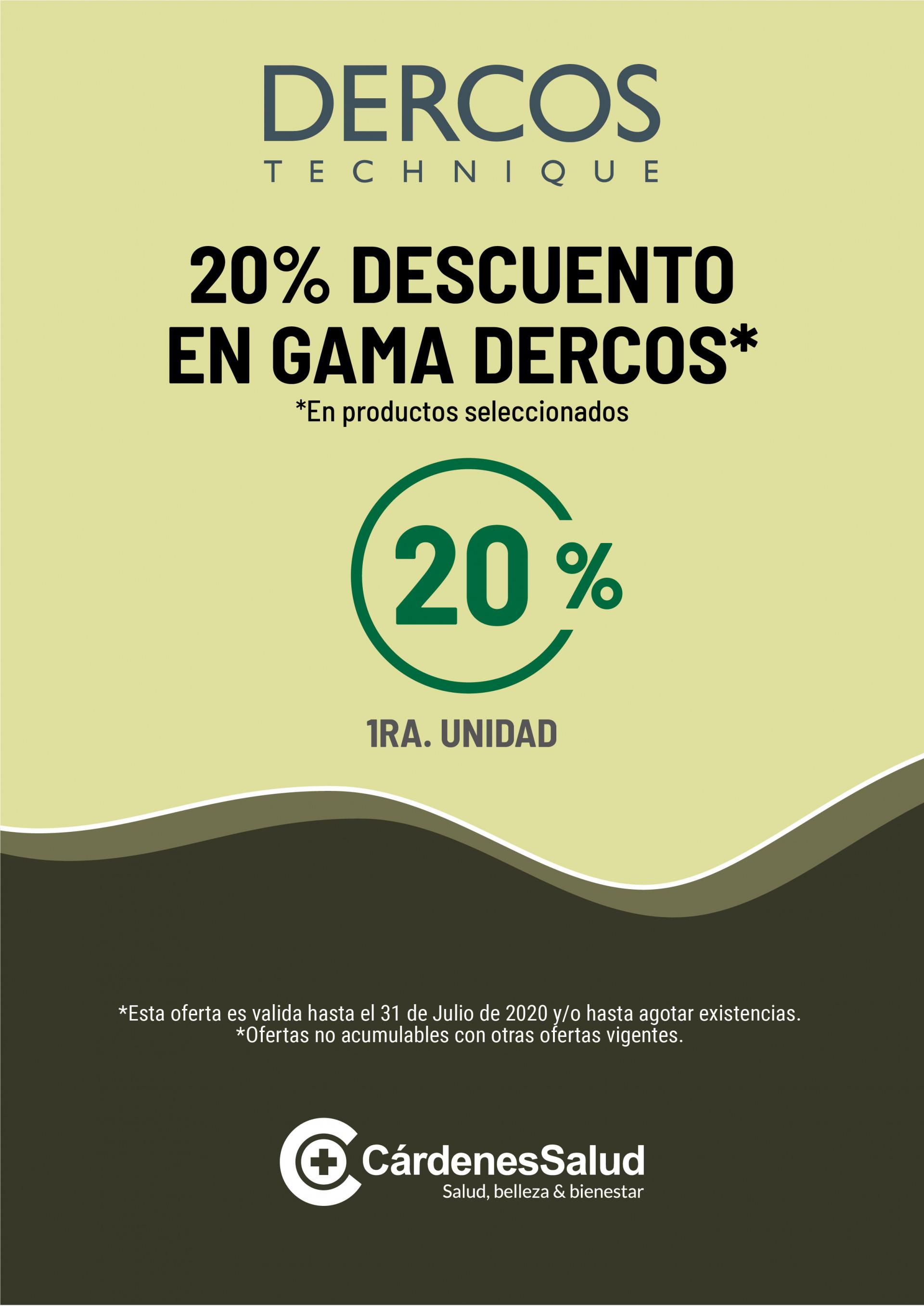 DERCOS TECHNIQUE: 20% DESCUENTO DURANTE EL MES DE JULIO Y AGOSTO