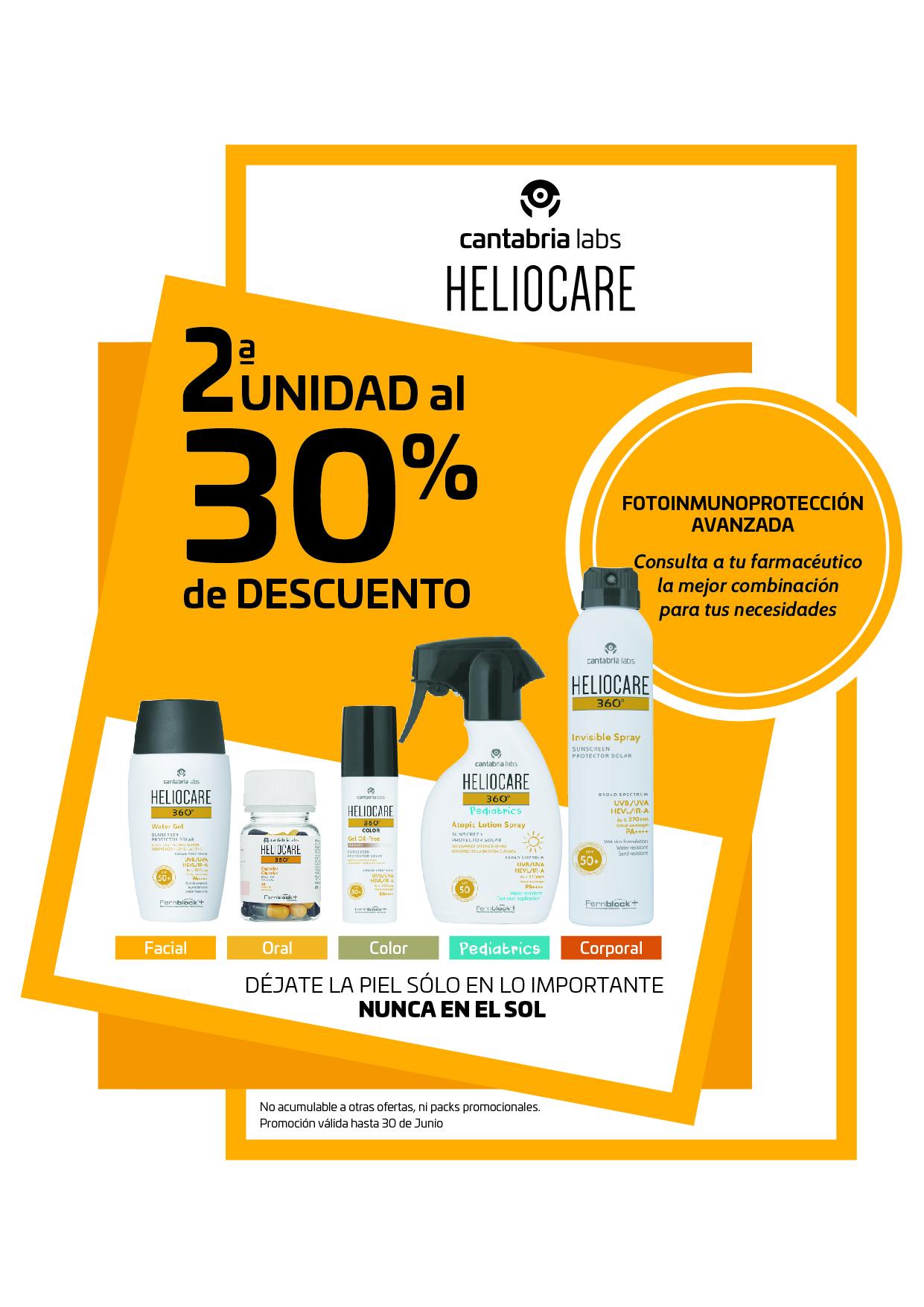 Heliocare - 2ª Unidad al 30% de descuento!