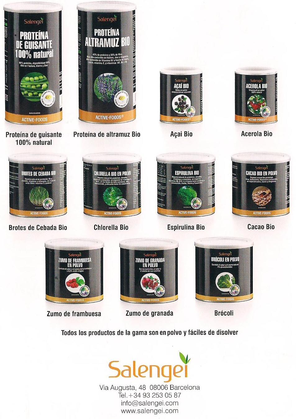 Active-Foods Salengei: complementos alimentarios para una nutrición activa
