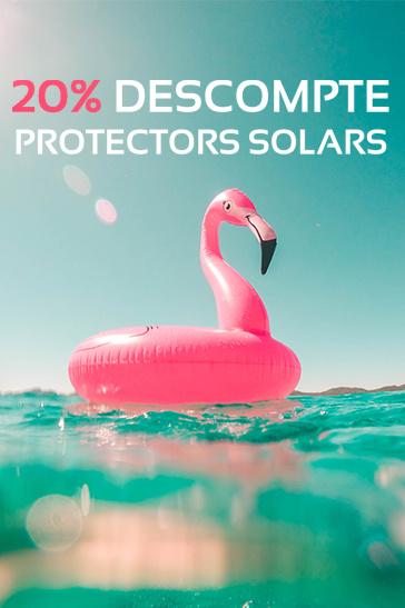20% de descompte en protecció solar a l'agost