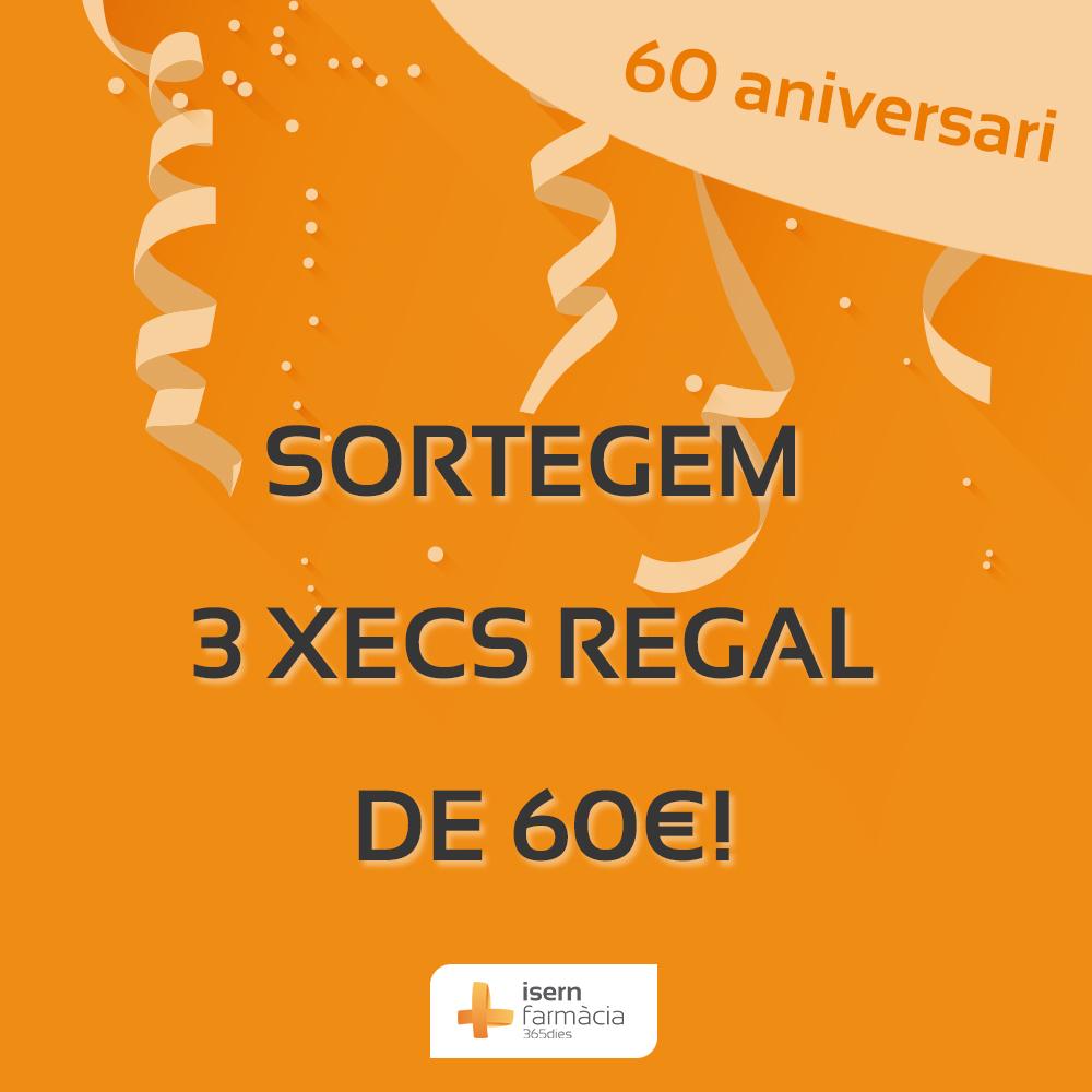 Celebrem els nostres 60 anys amb un sorteig