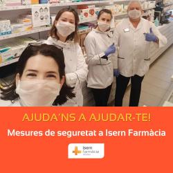 Mesures de seguretat a Isern Farmàcia davant del Coronavirus