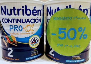 LECHE CONTINUACIÓN NUTRIBEN 50% DESCUENTO EN LA SEGUNDA UNIDAD