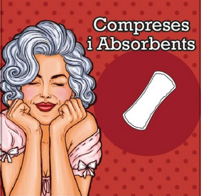Compreses incontinència versus compreses per la menstruació