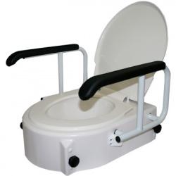 Elevador de WC con apoyabrazos abatibles