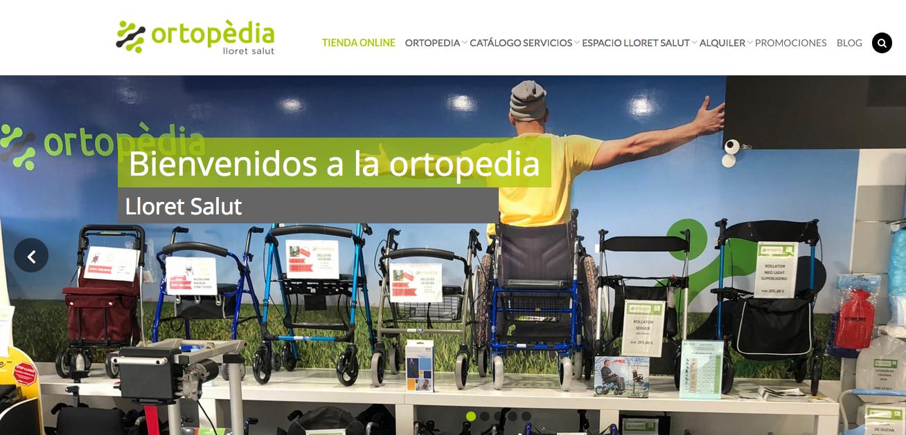 Nova botiga online a: Ortopedia Lloret Salut