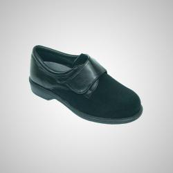 Zapato elastic comfort velcro negro