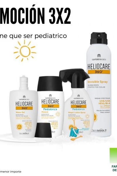 Fotoprotectores Heliocare 3x2