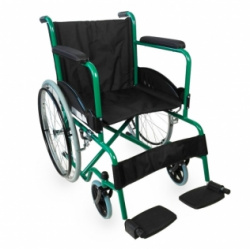 Silla ruedas manual acero plegable
