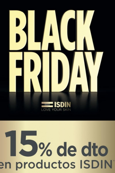 BLACK FRIDAY -15% dte. en ISDIN