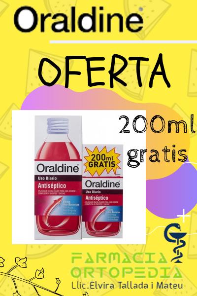 Oraldine 200ml GRATIS