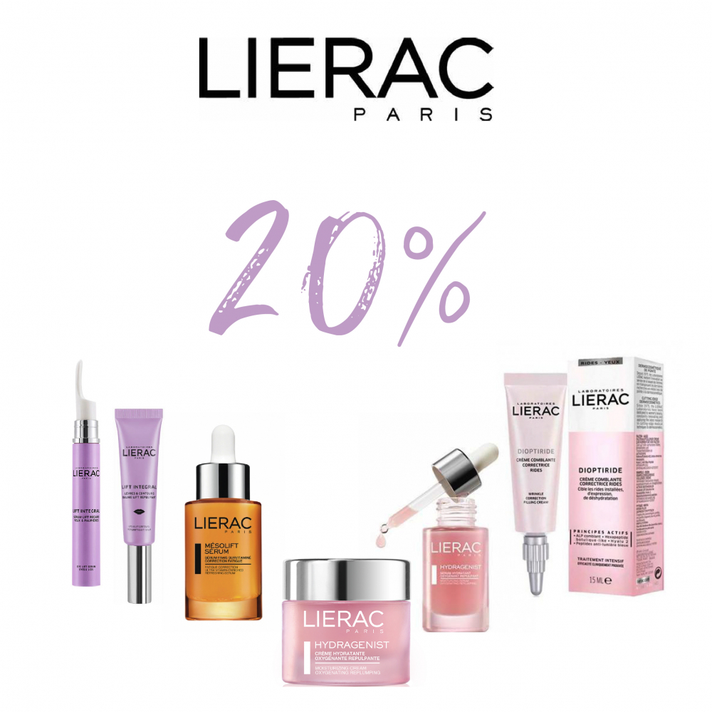 Tots els articles Lierac al 20% de descompte